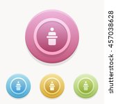 speech icon or button in flat... | Shutterstock .eps vector #457038628