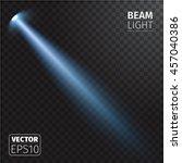 realistic beam light on... | Shutterstock .eps vector #457040386