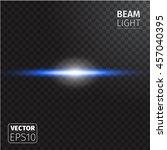 realistic beam light on... | Shutterstock .eps vector #457040395