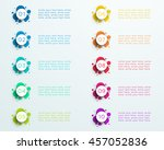 number bullet point abstract... | Shutterstock .eps vector #457052836