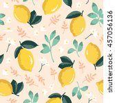 vector summer pattern with... | Shutterstock .eps vector #457056136