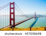 beautiful view on the golden... | Shutterstock . vector #457058698