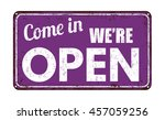 come in we're open on lila... | Shutterstock .eps vector #457059256