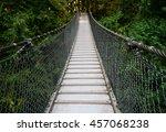 suspension bridge in lynn... | Shutterstock . vector #457068238