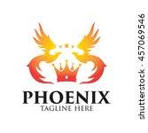phoenix logo template  fire... | Shutterstock .eps vector #457069546
