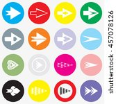 arrows sign icon set.  modern... | Shutterstock .eps vector #457078126