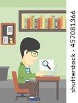 an asian young businessman...   Shutterstock .eps vector #457081366