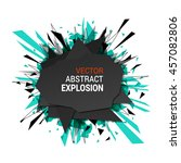 abstract explosion banner.... | Shutterstock .eps vector #457082806