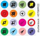 arrows sign icon set. modern...   Shutterstock .eps vector #457089922