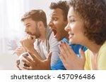 group of multi national... | Shutterstock . vector #457096486