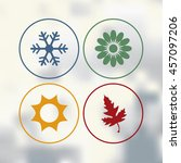 season icons vector... | Shutterstock .eps vector #457097206