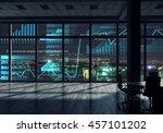 night office interior . mixed... | Shutterstock . vector #457101202