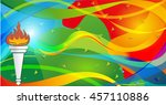 icon sport torch with colorful... | Shutterstock .eps vector #457110886