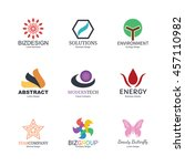 abstract logo icons design ... | Shutterstock .eps vector #457110982