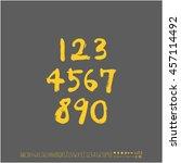 alphabet   number   handwriting ... | Shutterstock .eps vector #457114492