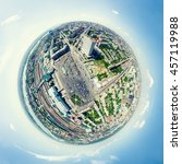 aerial city view with... | Shutterstock . vector #457119988
