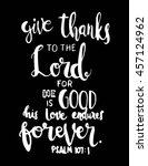 give thanks to the lord on... | Shutterstock .eps vector #457124962