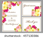 romantic invitation. wedding ... | Shutterstock .eps vector #457130386