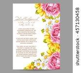romantic invitation. wedding ... | Shutterstock .eps vector #457130458