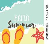 summer illustration. vacation... | Shutterstock .eps vector #457131706