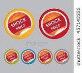 vector   shock price special... | Shutterstock .eps vector #457142332