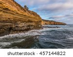 View Of Cliffs And Beach At...