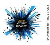 abstract explosion banner.... | Shutterstock .eps vector #457147216