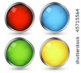 vector web buttons set over... | Shutterstock .eps vector #45715564
