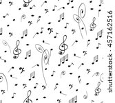 abstract music seamless pattern ... | Shutterstock .eps vector #457162516