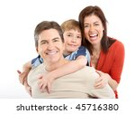 happy family. father  mother... | Shutterstock . vector #45716380