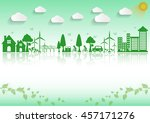 ecology connection concept... | Shutterstock .eps vector #457171276