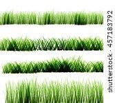 green grass on isolated... | Shutterstock .eps vector #457183792