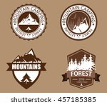 set of mountain  forest... | Shutterstock .eps vector #457185385