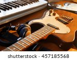 electric guitar and synthesizer ... | Shutterstock . vector #457185568