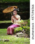 Girl National Costume  Laos