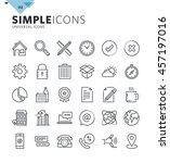 modern thin line universal web... | Shutterstock .eps vector #457197016