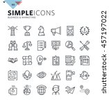 modern thin line icons of... | Shutterstock .eps vector #457197022
