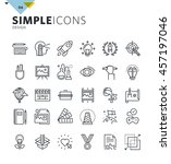 modern thin line icons of... | Shutterstock .eps vector #457197046