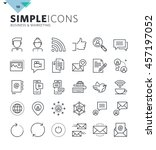 modern thin line icons of... | Shutterstock .eps vector #457197052