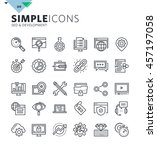 modern thin line icons of seo... | Shutterstock .eps vector #457197058
