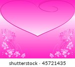 valentine's background with... | Shutterstock . vector #45721435