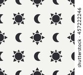 flat monochrome vector seamless ... | Shutterstock .eps vector #457222246