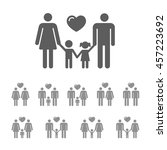 family icon set. gay couple... | Shutterstock .eps vector #457223692