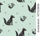 scandinavian style. seamless... | Shutterstock .eps vector #457223836