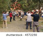 Chinese exercising at the Temple of Heaven, Beijing - stock photo