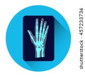hand x ray medicine icon flat... | Shutterstock .eps vector #457233736