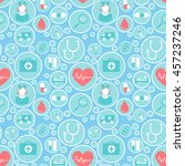 medical vector pattern for your ... | Shutterstock .eps vector #457237246