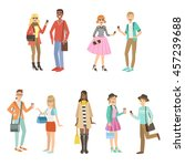hipsters and modern fashion... | Shutterstock .eps vector #457239688