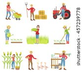 people working on the farm set | Shutterstock .eps vector #457239778