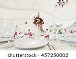 beautiful banquet hall under a... | Shutterstock . vector #457250002